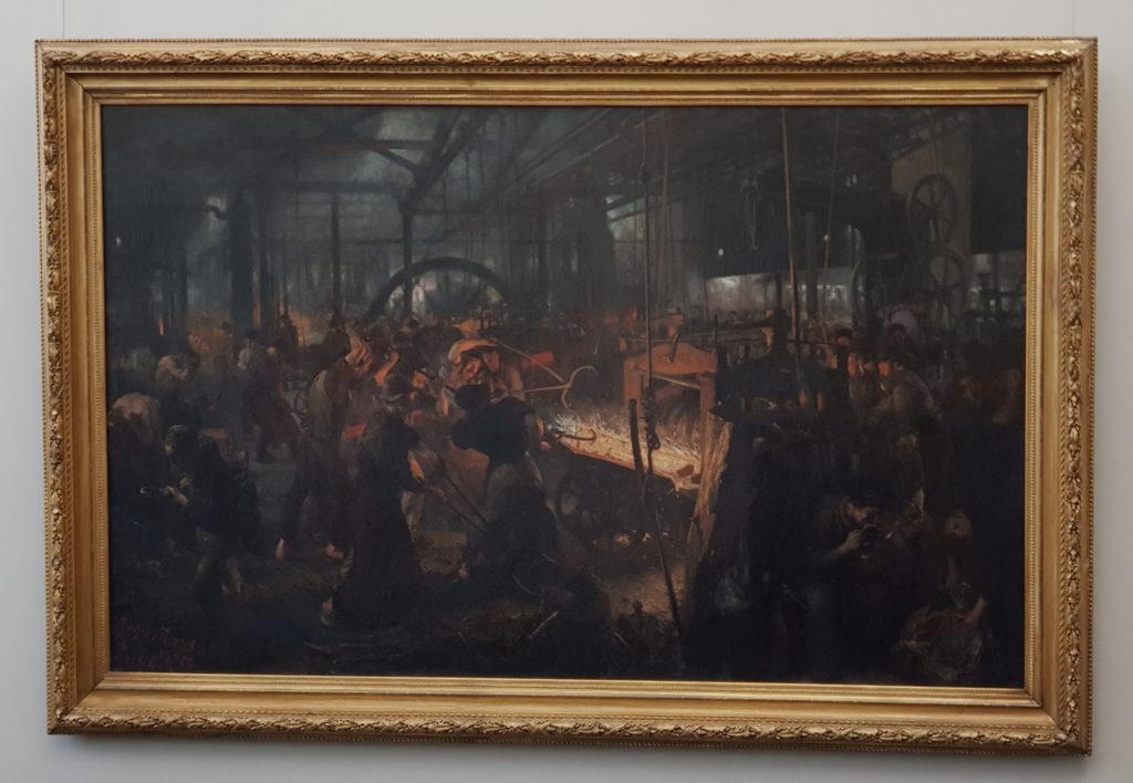 Wyspa Muzeów w Berlinie - Stara Galeria Narodowa - Eisenwalzwerk - Adolph Menzel