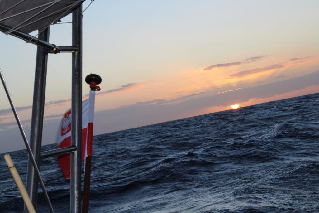 Zachód słońca nad Oceanem Atlantyckim
