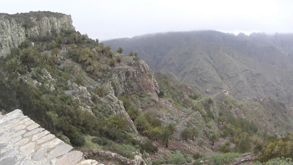 La Gomera - widok w punktu widokowego Mirador Degollada De Peraza