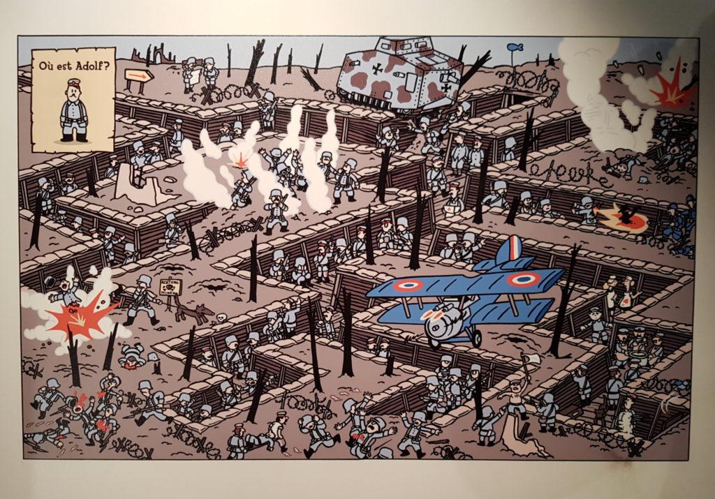 Grafika w Belgijskim Centrum Komiksu w Brukseli