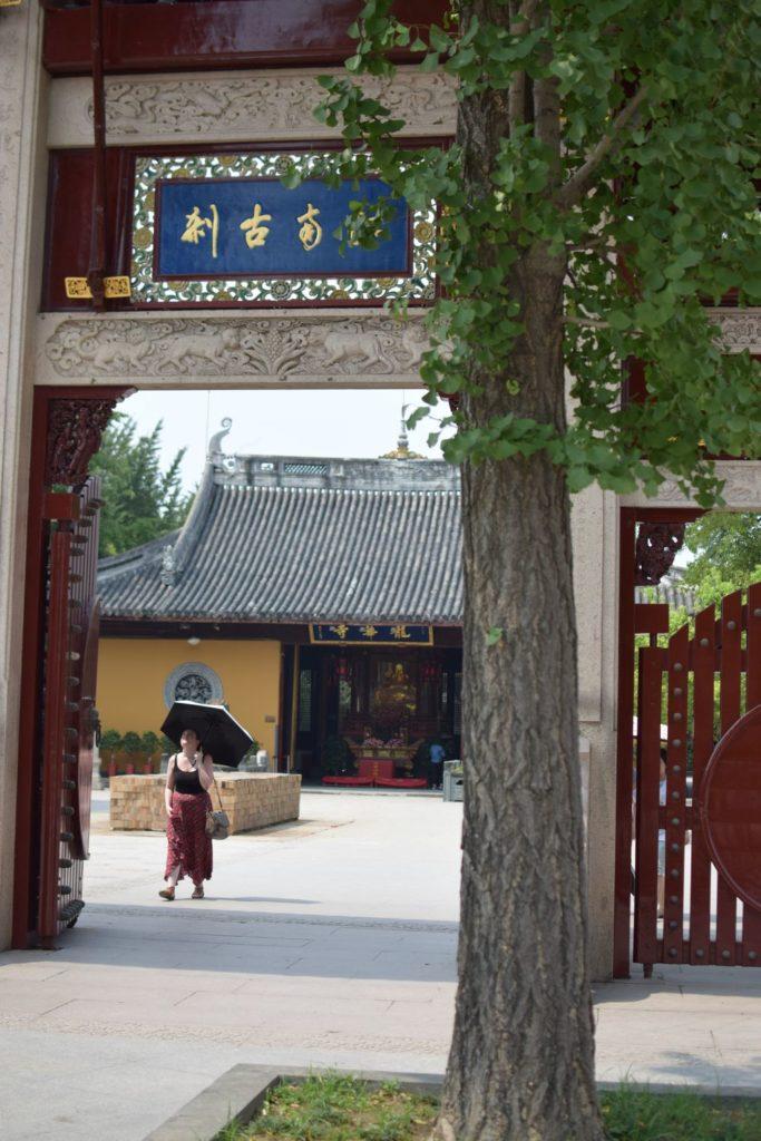 Chiny Szanghaj brama wejściowa do świątynii Longhua