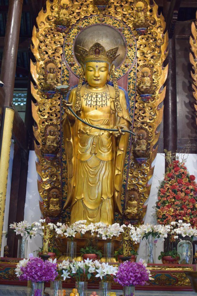 rzeźby w Longhua temple