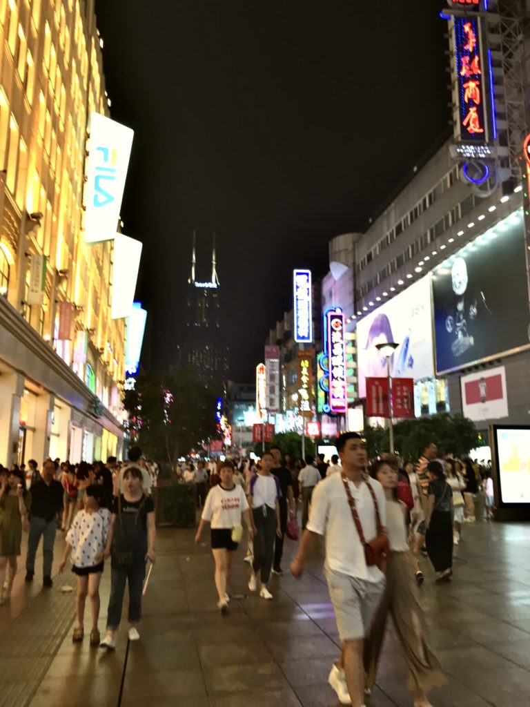 Nanjing Road Szanghaj, w drodze na Bund