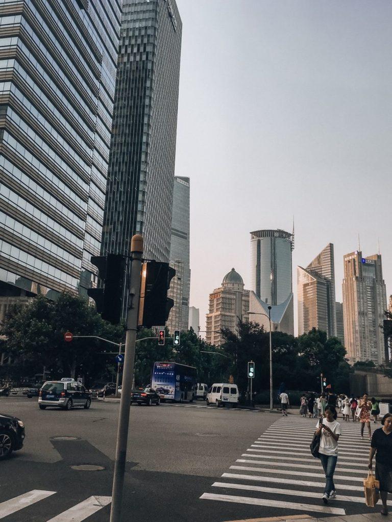 Chiny Szanghaj Pudong dzielnica biznesowa