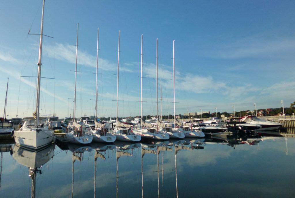 Jachty w marinie w Sopocie