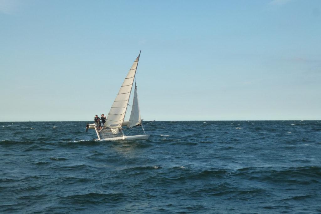 Bałtyk - rejs stażowy - sportowy katamaran na Zatoce Gdańskiej