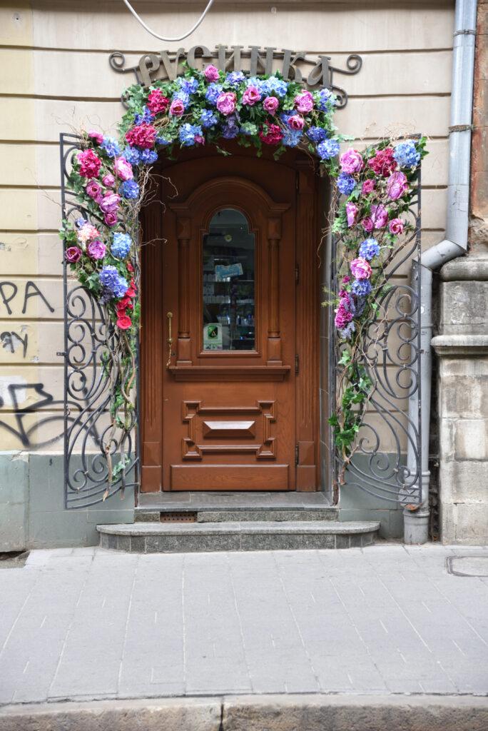 Dekoracja drzwi do sklepu